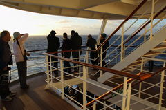 Odjeżdżanie statek wycieczkowy Obrazy Stock