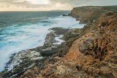 Odkrycie podpalany morski park narodowy w Wiktoria, Australia Zdjęcie Royalty Free