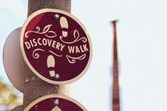 Odkrycie spaceru znak obraz royalty free