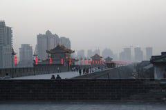 Odkrywać Chiny: Xian antycznego miasta ściana Fotografia Stock