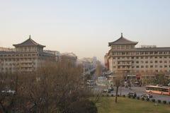 Odkrywać Chiny: Xian główna ulica Zdjęcia Royalty Free