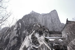 Odkrywać Chiny: Mt Huashan zachodu szczyt Fotografia Royalty Free