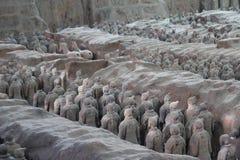 Odkrywać Chiny: Terakotowy wojsko Obrazy Stock