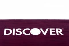 Odkrywa kredytowej karty zakończenie up na białym tle Selekcyjna ostrość z płytką głębią pole Zdjęcie Stock