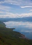 Odkrywa Ohrid jezioro Obraz Stock