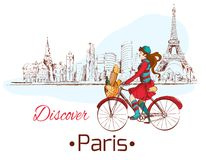 Odkrywa Paryskiego plakat ilustracja wektor