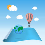 Odkrywa planeta balonu unosić się Zdjęcia Royalty Free