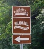 Odkrywa Tennessee ślada sposobu znakiem i Obraz Stock