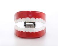 odkrywczość rozgwarzeni śmieszni zęby fotografia royalty free