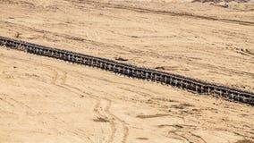 Odkrywkowa brown kopalnia węgla Pasowy konwejer Zdjęcia Royalty Free