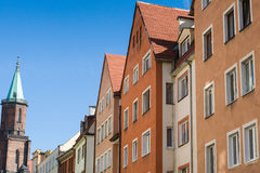 Odl tenement houses Stock Photography