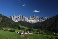 Odle de massif en dolomites Italie images libres de droits