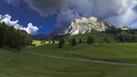 The Odle, Dolomites - Italy. The hiking trail to the Odle Group, Dolomites - Italy royalty free stock images