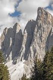 Odle,funes valley,south tyrol,Italy. Alpine landscape on italian dolomites Royalty Free Stock Images