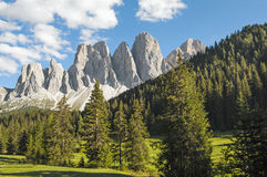 Odle,funes valley,south tyrol,Italy Stock Image