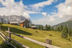 Odle,funes valley,south tyrol,Italy. Alpine landscape on italian dolomites Stock Image
