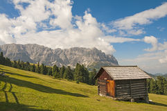 Odle,funes valley,south tyrol,Italy. Alpine landscape on italian dolomites Royalty Free Stock Image