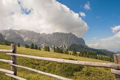 Odle,funes valley,south tyrol,Italy. Alpine landscape on italian dolomites Royalty Free Stock Photography