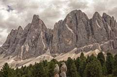 Odle,funes valley,south tyrol,Italy. Fantastic view of alpine landscape on Italian Dolomites Stock Images