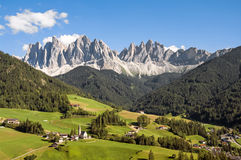 Odle,funes valley,south tyrol,Italy. A great view of italian dolomites Stock Photography