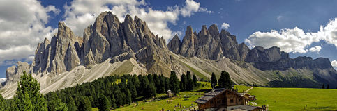 Odle,funes valley,south tyrol,Italy Stock Photos