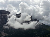 Odle group beneath the clouds in Dolomiti Stock Photos