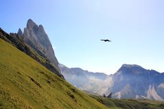 Odle mountains in the Dolomites, Italy Royalty Free Stock Image