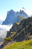 Odle mountains in the Dolomites, Italy. A view of the Odle mountains, Dolomites, in Italy Stock Photo