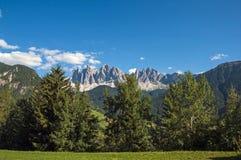 Odle, valle de Funes, el Tyrol del sur, Italia Imagen de archivo libre de regalías