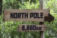 Odległość biegun północny od równika Zdjęcia Stock