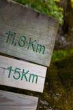 Odległość znaki Zdjęcia Stock