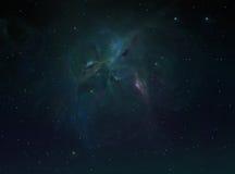 Odległy galaktyki tło Obrazy Royalty Free