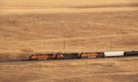 odległy pociąg towarowy Obraz Royalty Free