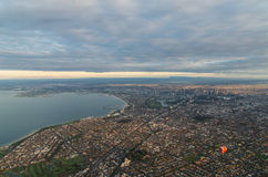 Odległy widok Melbourne Fotografia Royalty Free