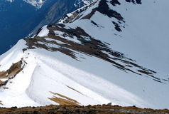 Odległy widok pasmo górskie zdjęcie royalty free