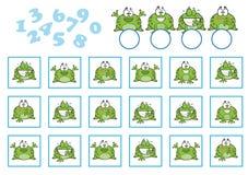 Odliczająca gra dla Preschool dzieci Edukacyjny matematycznie gra ilustracja wektor