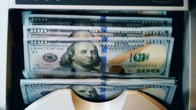 Odliczająca maszyna i banknoty rusza się w nim zbiory wideo