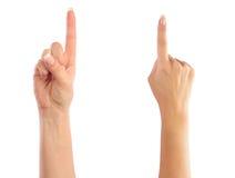 odliczające żeńskie ręki Zdjęcia Royalty Free