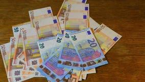Odliczający pieniądze, euro zbiory wideo
