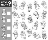 Odliczająca gra dla Preschool dzieci bajka charaktery Zdjęcie Royalty Free