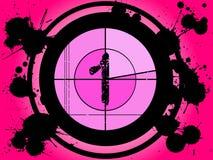 odliczanie 1 różowy filmu ilustracja wektor