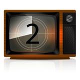 Odliczanie 2 na TV Fotografia Stock