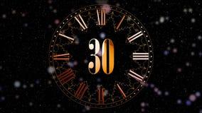 odliczanie nowy rok 2D animacji odliczające minuty na zegarze Czerwony kolor Magiczna animacja dla twój głównego przyjęcia rok zdjęcie wideo