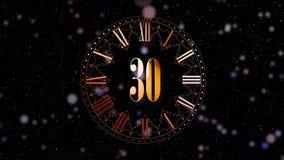 odliczanie nowy rok 2D animacji odliczające minuty na zegarze Czerwony kolor Magiczna animacja dla twój głównego przyjęcia rok zbiory