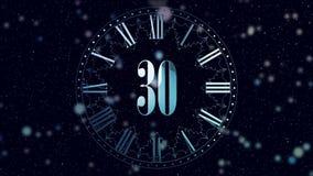 odliczanie nowy rok 2D animacji odliczające minuty na zegarze Indygowy kolor E zbiory