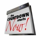 Odliczanie Zaczyna Teraz Kalendarzowego dnia daty finał Obraz Stock