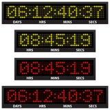 odliczanie zegar Obraz Stock