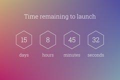 Odliczanie zegaru strony internetowej zegarowego szablonu wektorowy projekt ilustracja wektor