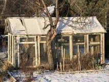 Odlingslottar i snöig vinter Royaltyfria Foton