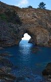 Odludna błękit zatoka Zdjęcia Royalty Free